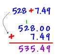 Phép cộng số thập phân. Tổng nhiều số thập phân