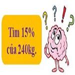 Giải toán về tỉ số phần trăm: Tìm giá trị phần trăm của một số