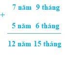 Cộng số đo thời gian