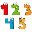 Các số 1, 2, 3, 4, 5