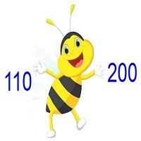 Các số tròn chục từ 110 đến 200