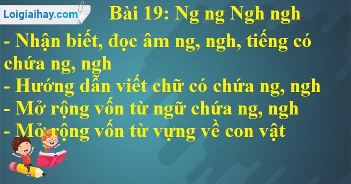 Bài 19: Ng ng Ngh ngh
