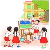 Bài 14: Đọc: Em học vẽ
