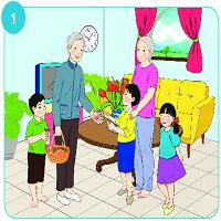 Bài 4: Xem kể: Những quả đào